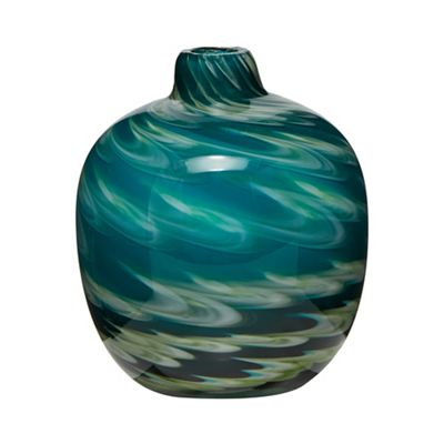 Butterfly Home By Matthew Williamson Blue And Green Swirl Bud Vase