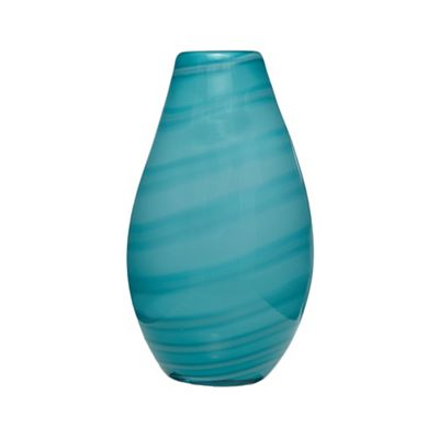 Butterfly Home By Matthew Williamson Turquoise Marble Effect Vase
