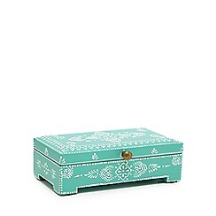 Butterfly Home by Matthew Williamson - Large turquoise henna print box
