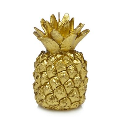MW by Matthew Williamson Gold pineapple candle  55bcb330c6