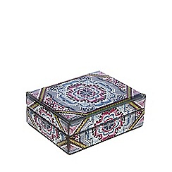 Butterfly Home by Matthew Williamson - Multi-coloured 'Mia' medium glass keepsake box