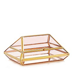 MW by Matthew Williamson - Gold and pink glass box