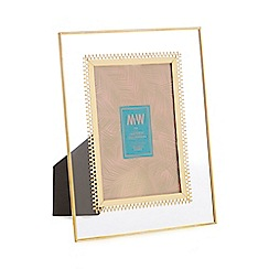 MW by Matthew Williamson - Gold metal edge glass photo frame