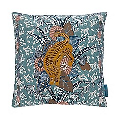 MW by Matthew Williamson - Multicoloured tiger embroidered cushion