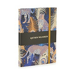 Butterfly Home by Matthew Williamson - Multi-coloured leopard print deluxe journal