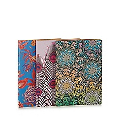 Butterfly Home by Matthew Williamson - Set of 3 multi-coloured feather print mini notebooks
