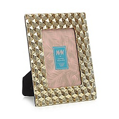 MW by Matthew Williamson - Gold textured glass photo frame