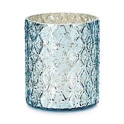 MW by Matthew Williamson - Blue diamond texture tea light holder
