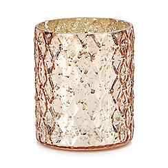 MW by Matthew Williamson - Pink diamond texture tea light holder