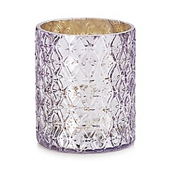 MW by Matthew Williamson - Purple diamond texture tea light holder