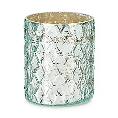 MW by Matthew Williamson - Green diamond texture tea light holder
