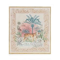 MW by Matthew Williamson - Multicoloured tiger print framed wall art