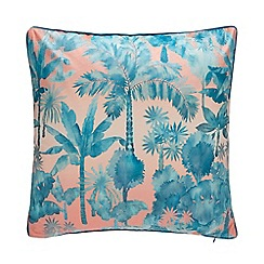 MW by Matthew Williamson - Multicoloured 'Inky Palm' Velvet Cushion