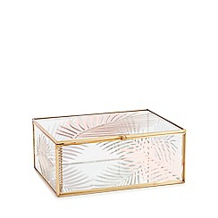 MW by Matthew Williamson - Gold Tropical Glass Box