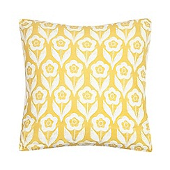Home Collection Basics - Yellow buttercup print cushion