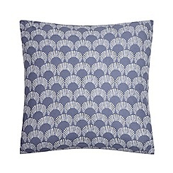Home Collection Basics - Navy scallop print cushion
