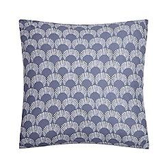 Home Collection Basics - Navy scallop print cushion