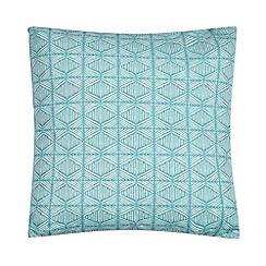 Home Collection Basics - Blue geometric print cushion