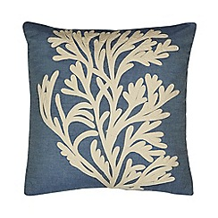 Home Collection - Blue coral isle applique cushion