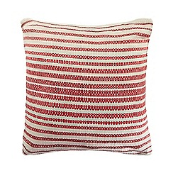 Home Collection - Red 'Chesil Beach' cushion