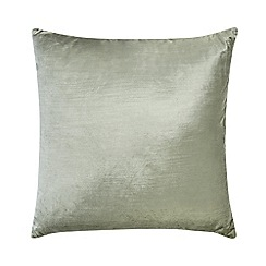 Home Collection - Mint textured velvet cushion