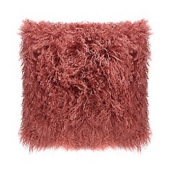 Home Collection - Pink sheepskin cushion