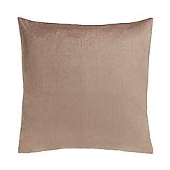 Home Collection - Light brown velvet cushion