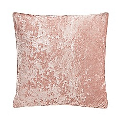 Debenhams - Pink crushed velvet cushion