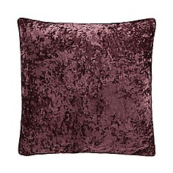 Home Collection - Purple crushed velvet cushion