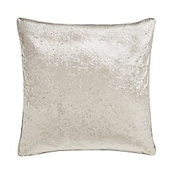 Home Collection - Ivory crushed velvet cushion