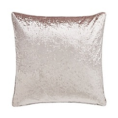 Home Collection - Taupe crushed velvet cushion