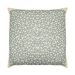 Home Collection - Dark green ditsy floral print cushion