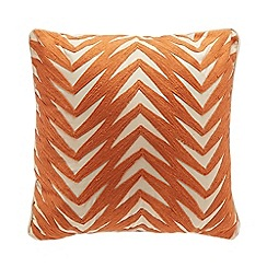 Home Collection - Orange woven pattern cotton cushion