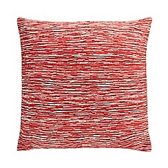 Home Collection - Red 'Aura' textured stripe cushion