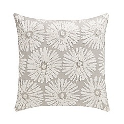Debenhams - Grey 'Penelope' floral cushion