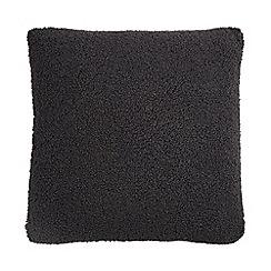 Debenhams - Grey teddy cushion