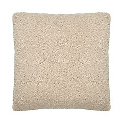 Debenhams - Natural teddy cushion