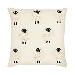 Home Collection - Natural linen rich sheep pattern cushion