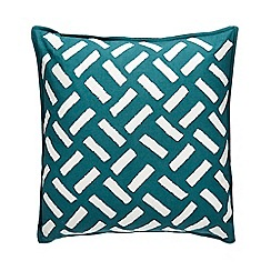 Home Collection - Dark green embroidered cushion