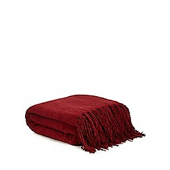 Debenhams - Red chenille throw