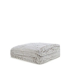 Home Collection - Silver faux fur throw