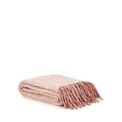 Home Collection - Pink herringbone throw