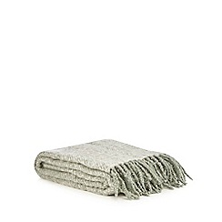 Home Collection - Green herringbone throw