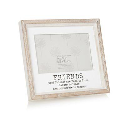 Home Collection Wooden \'Friends\' 5.5 x 3.5 inch photo frame | Debenhams