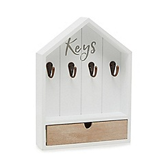 Home Collection - White 'Hygge' key rack
