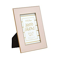 Home Collection - Pink 'Cosmo' enamel photo frame