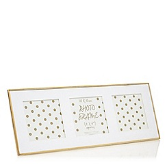 Home Collection - Gold  three picture photo frame