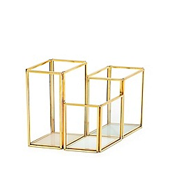 Home Collection - Gold  geometric storage holder
