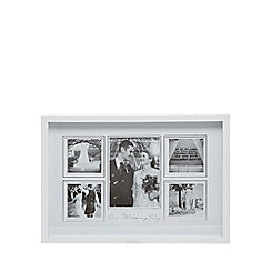 Home Collection - White 'Our Wedding Day' five aperture photo frame