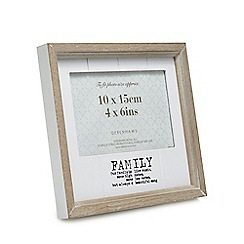Home Collection - Wood 'Family' slogan photo frame